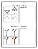 Mini How To Draw Leaf 2 and Bare Tree