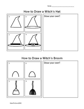 Mini How-To Draw Witch's Hat and Broom