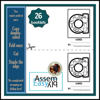 Alphabet Booklets for Invented Spelling Practice (Easy Assembly)