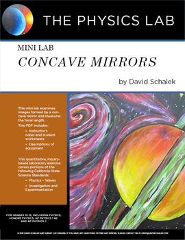 High School Physics and Physical Science  - Mini Lab: Concave Mirrors
