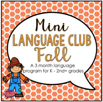 Mini Language Club Fall