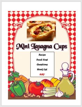 Mini Lasagna Cups Lab