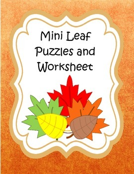 Mini Leaf Puzzles and Worksheet