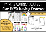 Mini Learning Posters - IKEA Tolsby Frames SASSOON FONT