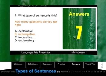 Mini Lesson 23: Types of Sentences, Full Version