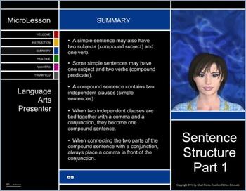 Mini Lesson 24: Sentence Structure Part 1, Free Version