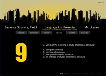 Mini Lesson 25: Sentence Structure Part 2, Free Version