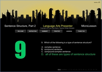 Mini Lesson 25: Sentence Structure Part 2, Full Version