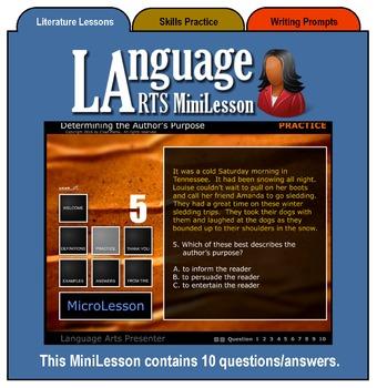 Mini Lesson 3:  Determining the Author's Purpose, Full Version