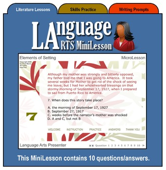 Mini Lesson 4:  The Elements of Setting, Full Version