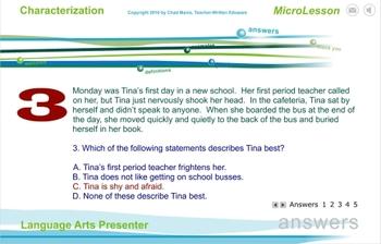Mini Lesson 5:  Characterization, Free Version