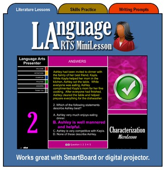 Mini Lesson 5:  Characterization, Full Version