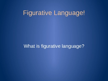 Mini-Lesson Bundle!  Figurative Language, Poetry and Drama!