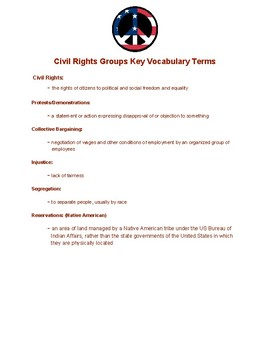 Mini-Lesson Civil Rights