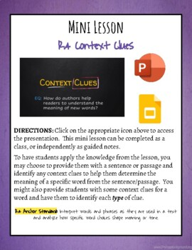 Mini Lesson: Context Clues