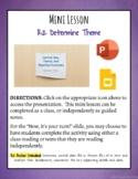 Mini Lesson: Determine Theme