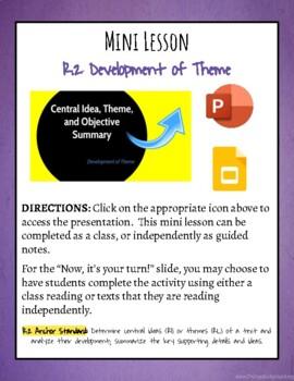 Mini Lesson: Development of Theme
