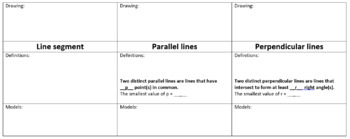 Mini Lesson, Do Nows, Test for Line Segment, Parallel, Perpendicular Definitions