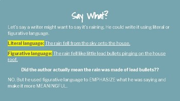 Mini-Lesson Introducing Figurative Language