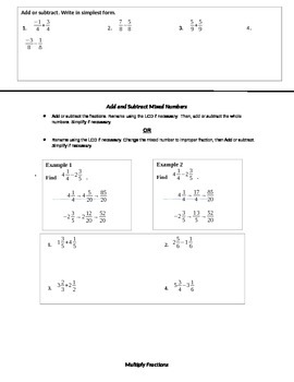 NUMBER SENSE - mini-lesson notes