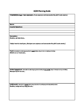 Mini Lesson Planning Form