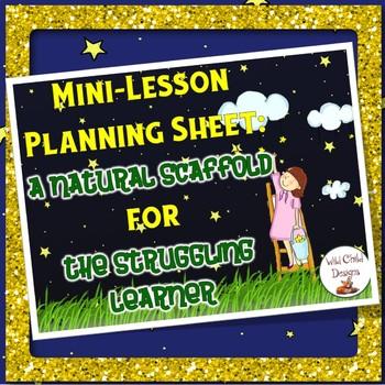 Mini-Lesson Planning Sheet for All Workshops