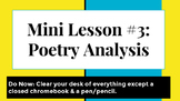 Mini Lesson: Poetry Analysis