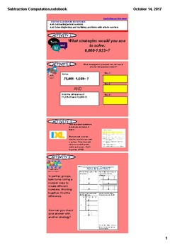 Mini Lesson- Subtraction of Whole Numbers