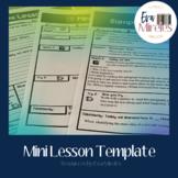Mini lesson plan template