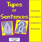 Types of Sentences: Review and Activities (Grades 5, 6, 7)