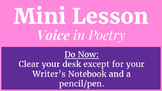 Mini Lesson: Voice in Poetry