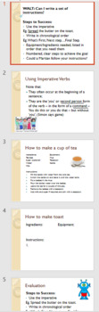 Mini Lesson - Writing Instructions - How to make toast (Using Imperative Verbs)