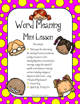 Determine the Meaning of Words and Phrases