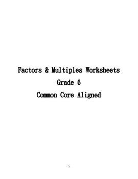 Mini Lesson on GCF and LCM