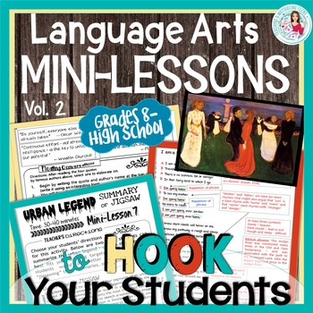Mini-Lessons 2 Teen Relevant Middle & High School Editable