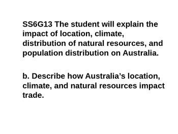 Mini Lessons- Australia- history, government, economics, geography