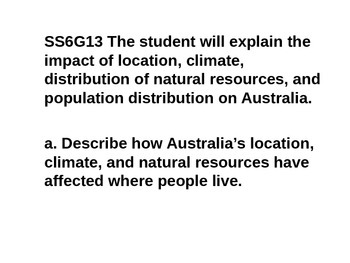Mini Lessons- Australia- history, government, economics, geography