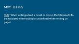 Mini-Lessons Before Writing Essay on Novel
