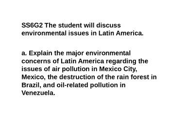 Mini Lessons- Latin America- history, government, economics, geography