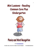 Mini Lessons-Reading-Common Core Plus-Kindergarten-Phonics and Word Recognition