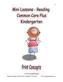 Mini Lessons - Reading - Common Core Plus - Kindergarten - Print Concepts