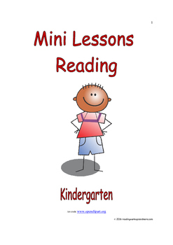 Mini Lessons - Reading - Kindergarten