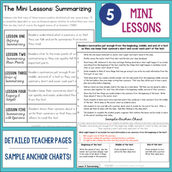 Reading Comprehension Units for Mastery- Summarizing