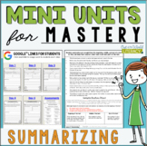 Reading Comprehension Units for Mastery- Summarizing- Included in Bundle #1