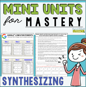 Reading Comprehension Units for Mastery- Synthesizing