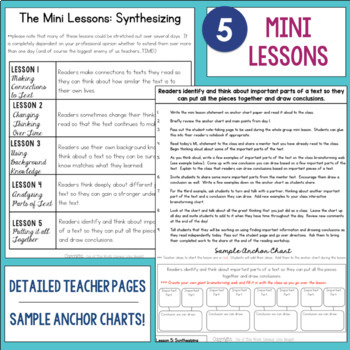 Reading Comprehension Mini Unit for Mastery- Synthesizing