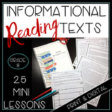 Whole Year of Mini Lessons for Reading Informational Texts 8th Grade