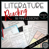 Reading Literature Whole Year Mini Lessons Grade 8 Print and Digital