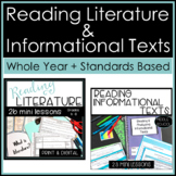Whole Year Mini Lessons for Reading Literature + Informational Texts Bundle