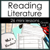Whole Year Mini Lessons for Reading Literature with Printables and Texts